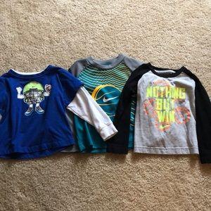 3 Nike toddler boys long sleeve shirts